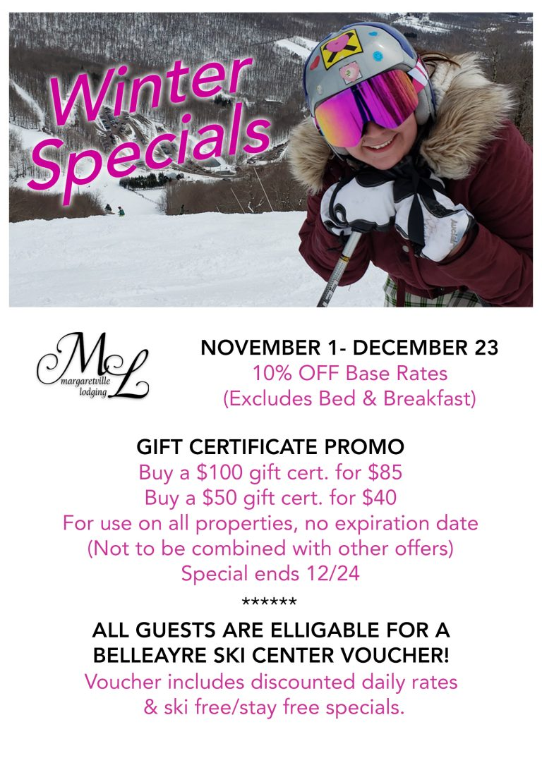 margaretville lodging specials